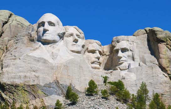 7日 總統巨像, 黃石公園, 瘋馬雕像, 魔鬼峰 , 大提頓, 西部尼加拉瀑布